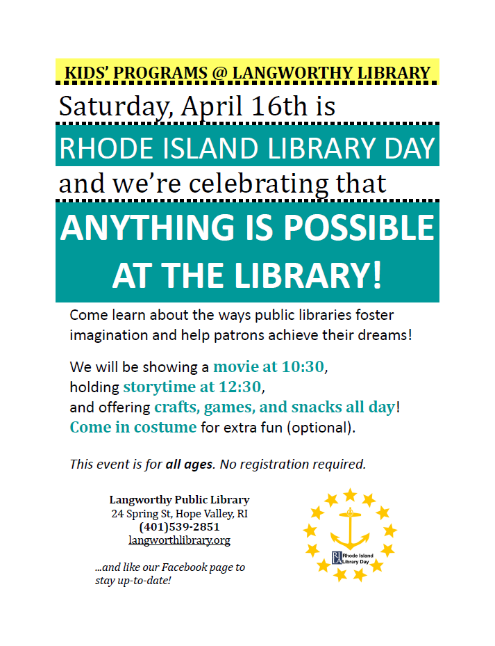 2016 RI Library Day